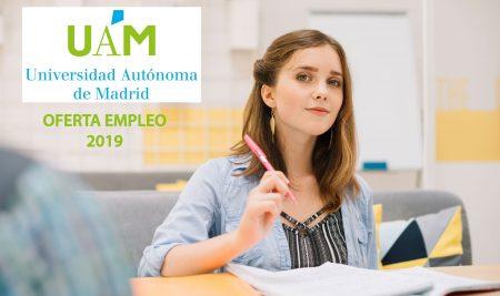 Oferta empleo 2019 Universidad Autónoma