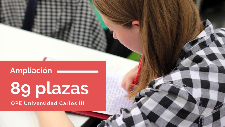 Aprobadas 89 plazas Universidad Carlos III