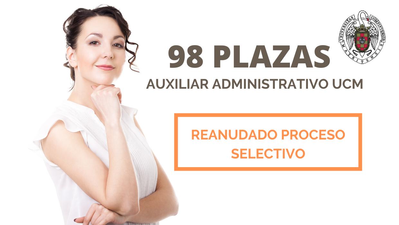 98 plazas Auxiliar Administrativo UCM