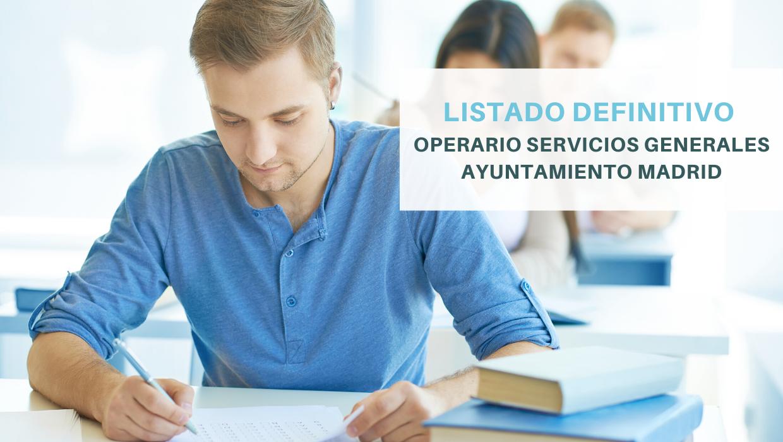 listado definitivo operario ayuntamiento madrid
