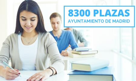 8300 plazas de empleo público para el Ayuntamiento de Madrid