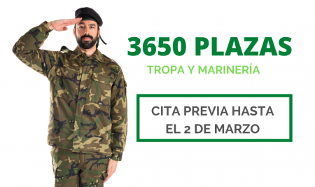 3650 plazas para Tropa y Marinería