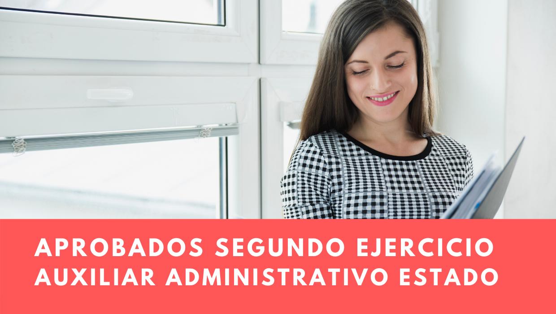 aprobados segundo ejercicio Auxiliar Administrativo Estado