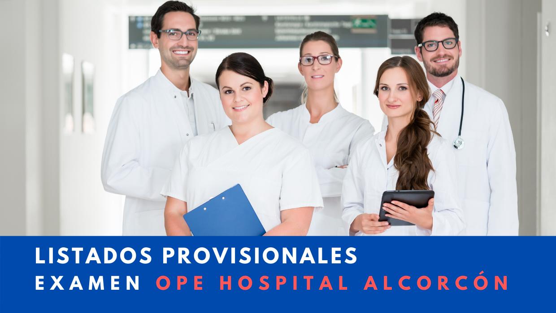 Listado provisional admitidos y excluidos examen hospital alcorcón