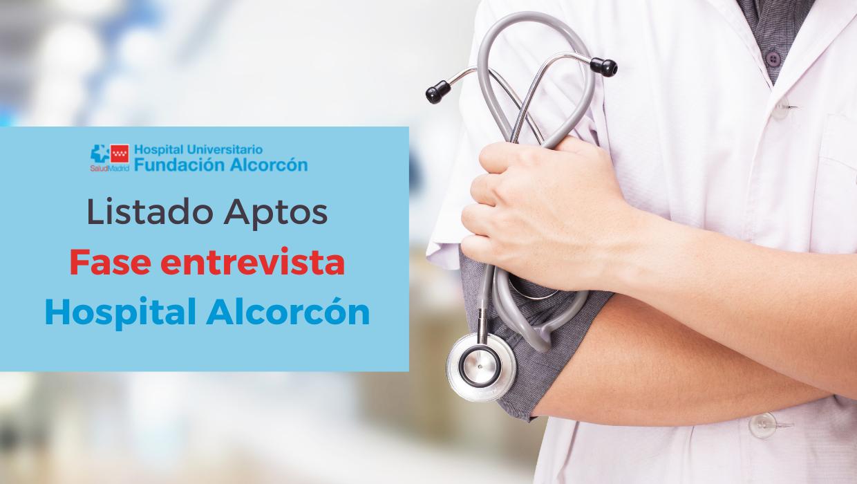 Listado aptos para entrevista Hospital de Alcorcón