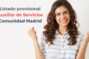Listado provisional Auxiliar de Servicios CAM