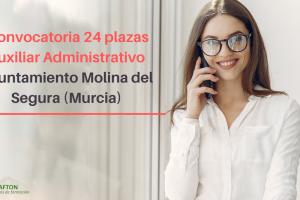 convocatoria 24 plazas Auxiliar Administrativo Molina del Segura