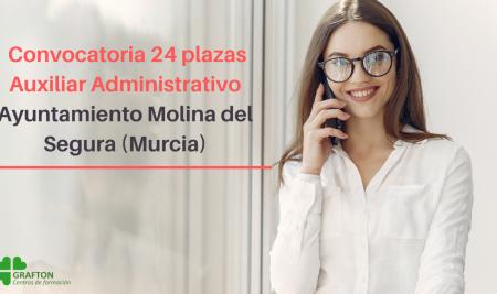 Convocatoria Auxiliar Administrativo Ayuntamiento Molina del Segura