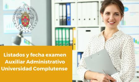 listado auxiliar administrativo universidad complutense