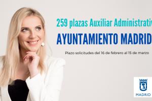 convocatoria Auxiliar Administrativo del ayuntamiento de Madrid