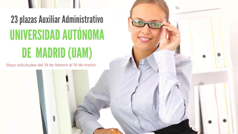 Oposiciones Auxiliar Administrativo UAM