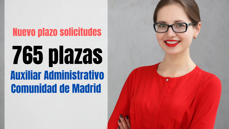 Ampliación plazas Oposición Auxiliar Administrativo Comunidad de Madrid