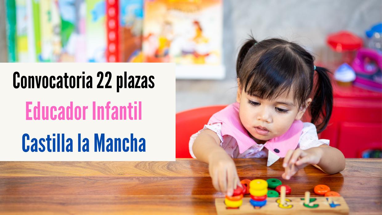 22 plazas Técnico Especialista en Jardín de Infancia CLM