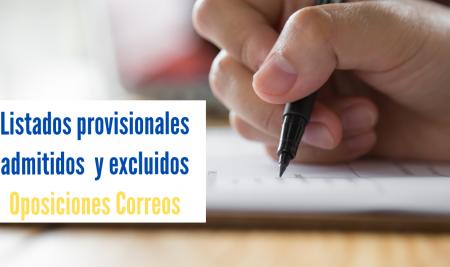 Correos publica los listados provisionales de admitidos y excluidos en la oposición