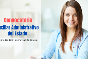 Convocatoria Auxiliar Administrativo Estado
