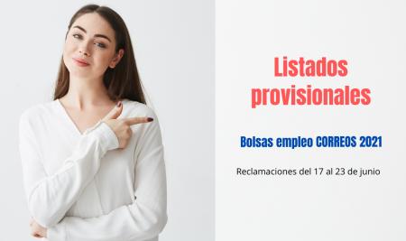 Listados provisionales bolsas de empleo Correos 2021
