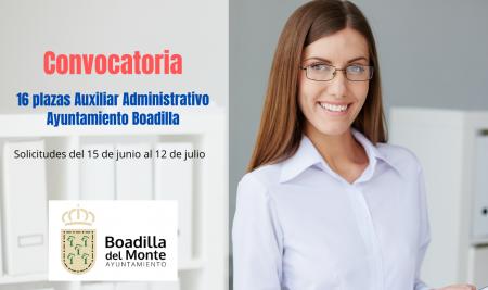 Convocatoria Auxiliar Administrativo Ayuntamiento de Boadilla del Monte