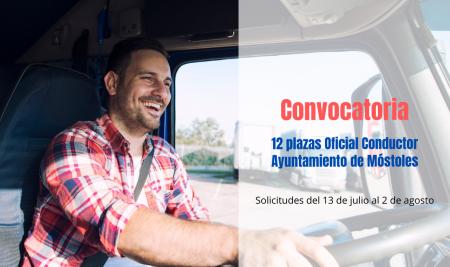 Convocatoria 12 plazas Conductor Ayuntamiento de Móstoles