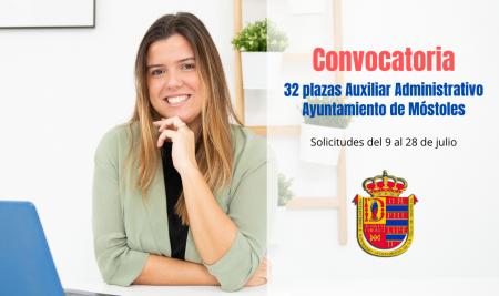 Convocatoria Auxiliar Administrativo Ayuntamiento de Móstoles
