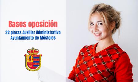 Bases Auxiliar Administrativo Ayuntamiento de Móstoles