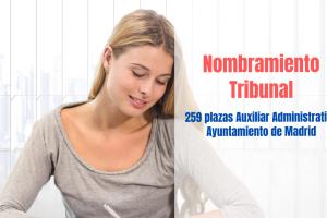 nombramiento tribunal Auxiliar Administrativo Ayuntamiento Madrid