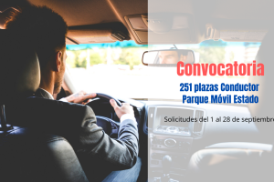 Convocatoria 251 plazas Conductor Parque Móvil