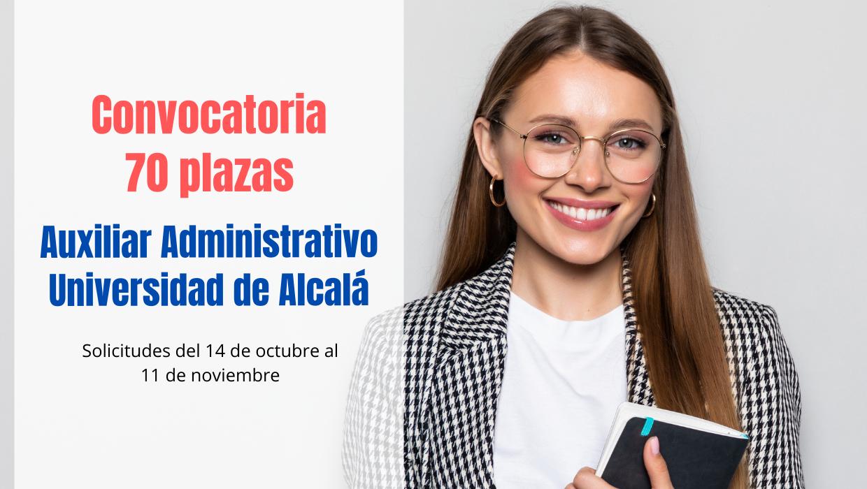 convocatoria 70 plazas Auxiliar Administrativo UAH